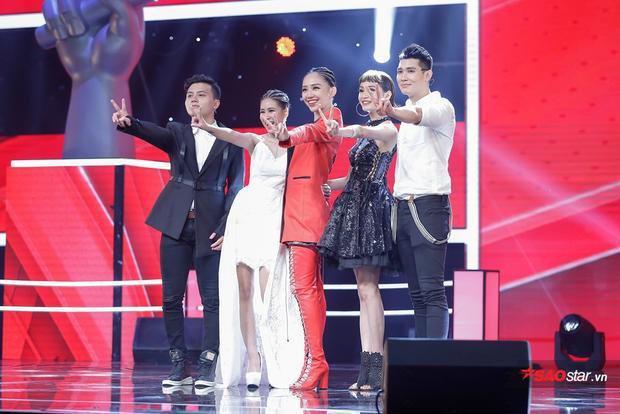 Team Tóc Tiên: Dương Thuận, Phương Mai, Hiền Hồ, Đào Tín.