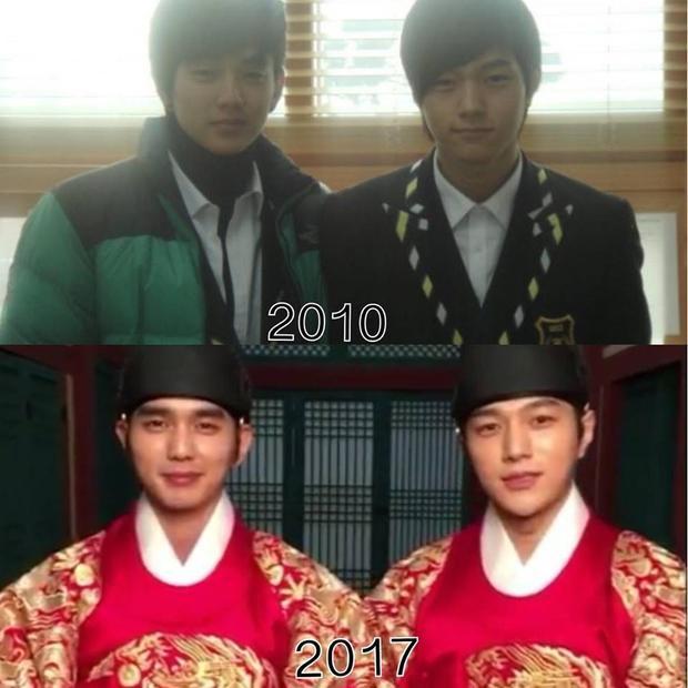 Tạo hình của hai anh chàng trong bộ phim mớiNguồn ảnh:Infinite's L - Kim Myung Soo Vietnamese Fanpage