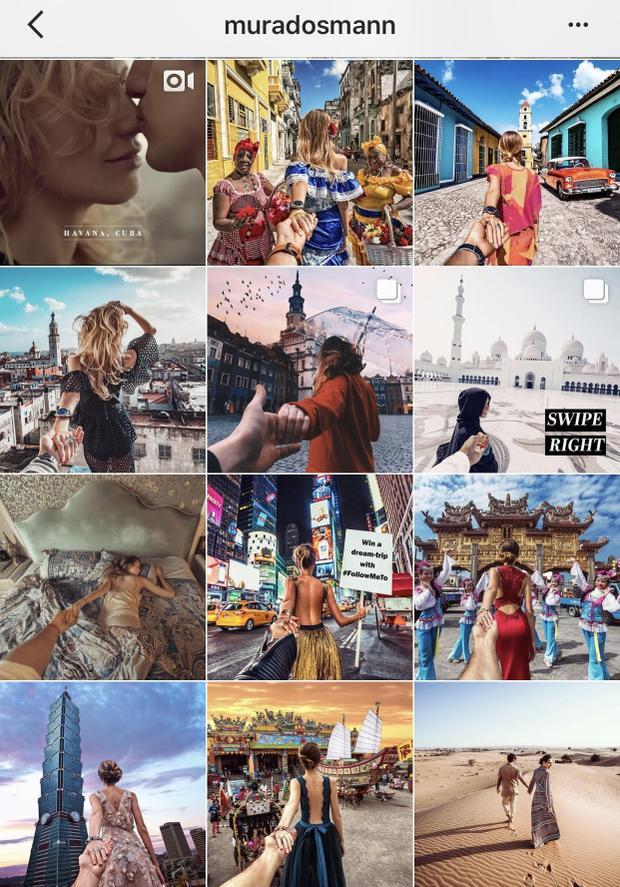 Trong loạt ảnh ấn tượng này, nam nhiếp ảnh gia người Nga đã theo chân người yêu đi đến nhiều địa điểm nổi tiếng trên thế giới, từ đền Taj Mahal cho tới Amazon.