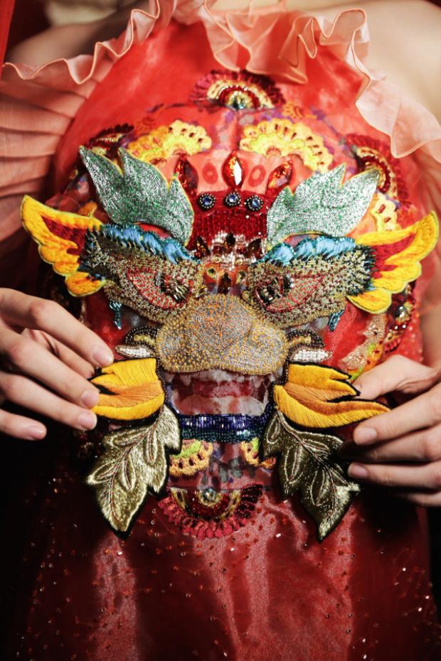 Hình ảnh những chú rồng chính là một đặc trưng của các nghi lễ dân gian đậm tín ngưỡng thờ Mẫu.