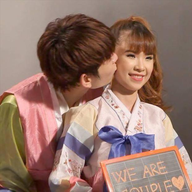 Không ít lần Khởi My  Kelvin Khánh trao nhau khoảnh khắc ngọt ngào như này