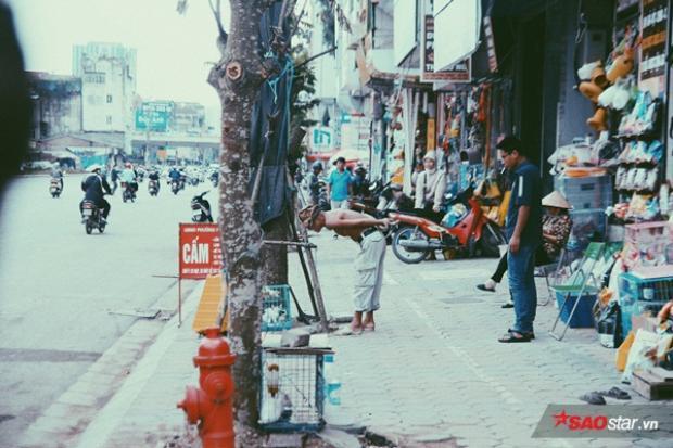 Ông Bình còn rất yêu động vật. Trong ảnh ông thích thú ngắm nghía những chú mèo đang được bày bán bên lề đường.