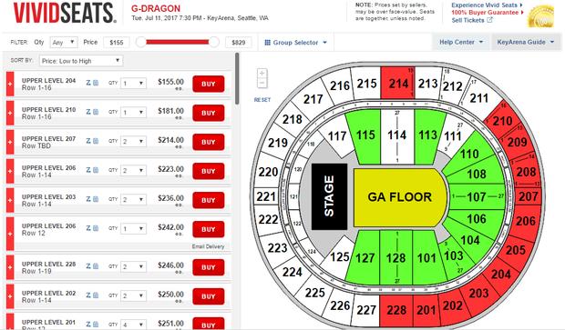 Giá vé rao bán ở một website khác.