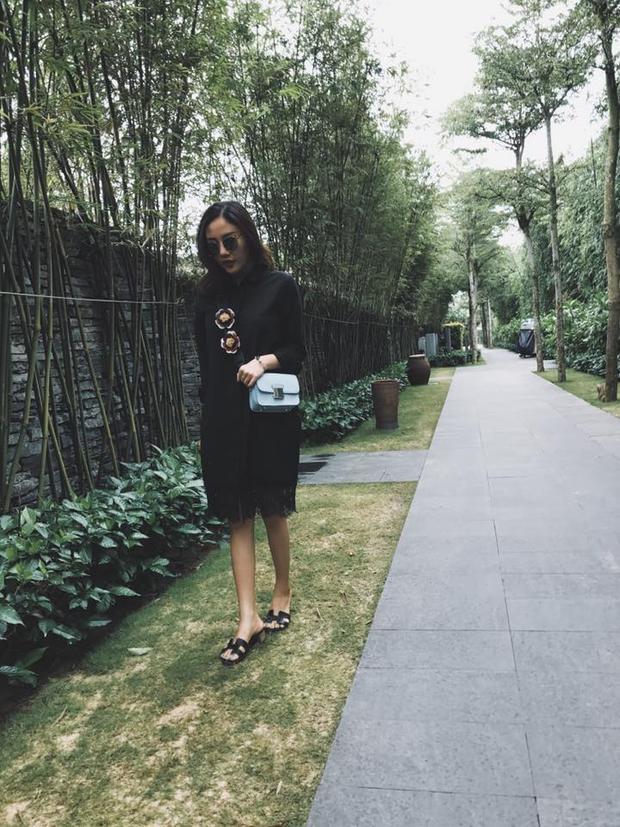 Hình ảnh Văn Mai Hương trong chuyến du lịch ở Đà Nẵng.