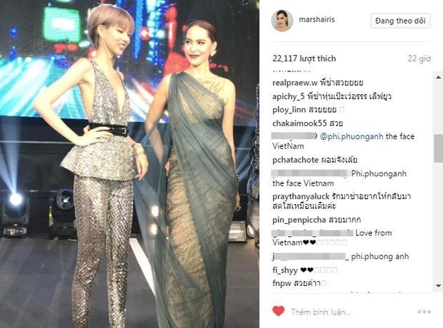Marsha chia sẻ hình ảnh chụp cùng Quán quân The Face Việt Nam - Phí Phương Anh cả trên instagram…