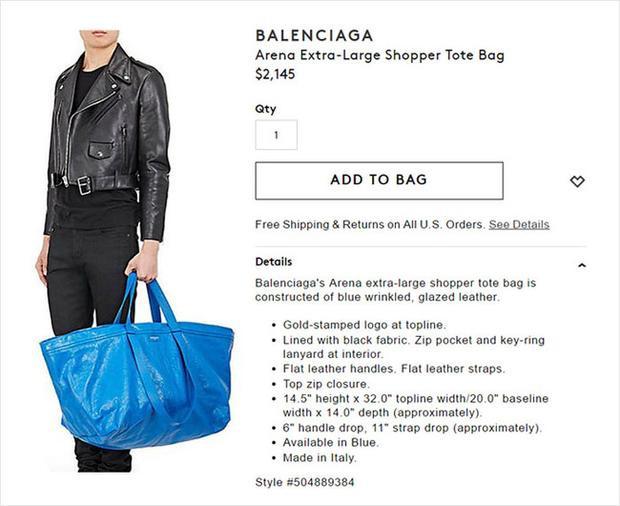 Chắc bạn còn nhớ vụ án xôn xao khi mẫutúi da 50 triệu của Balenciaga mang sắc thái, hình hài chẳng khác gì Frakta22.000 VNĐ do IKEA sản xuất?