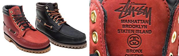 Stüssy x Timberland XXX 4-Eye Boots (2010).