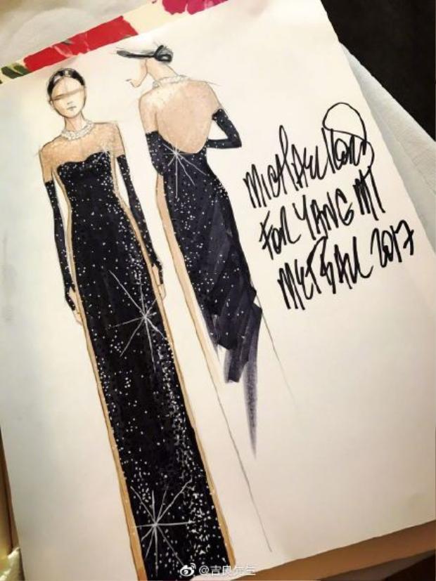 Bản thiết kế đặc biệt của Michael Kors cho nữ diễn viên họ Dương.