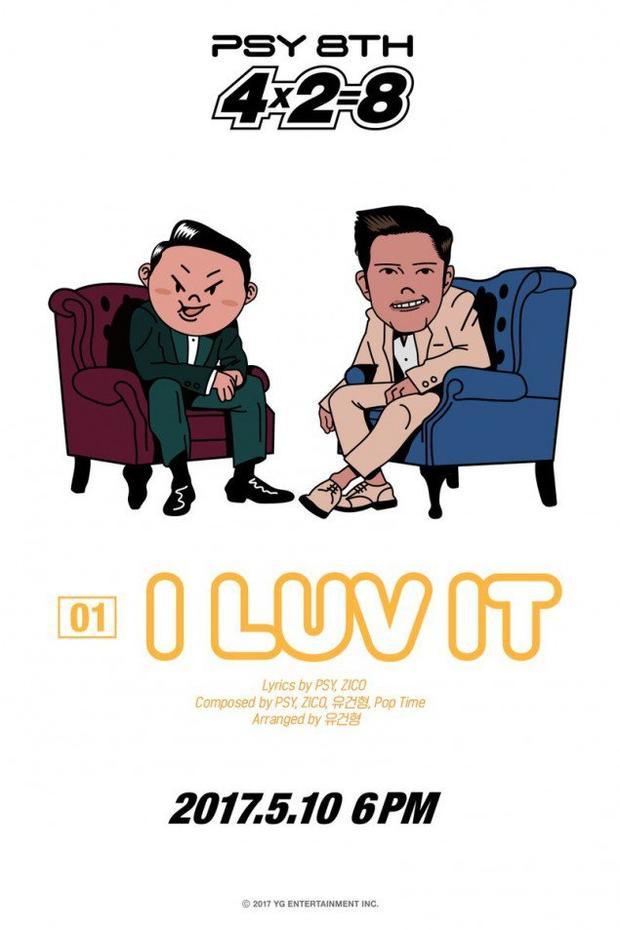 Và đây là PSY cùng Zico với ca khúc chủ đề I Luv It.