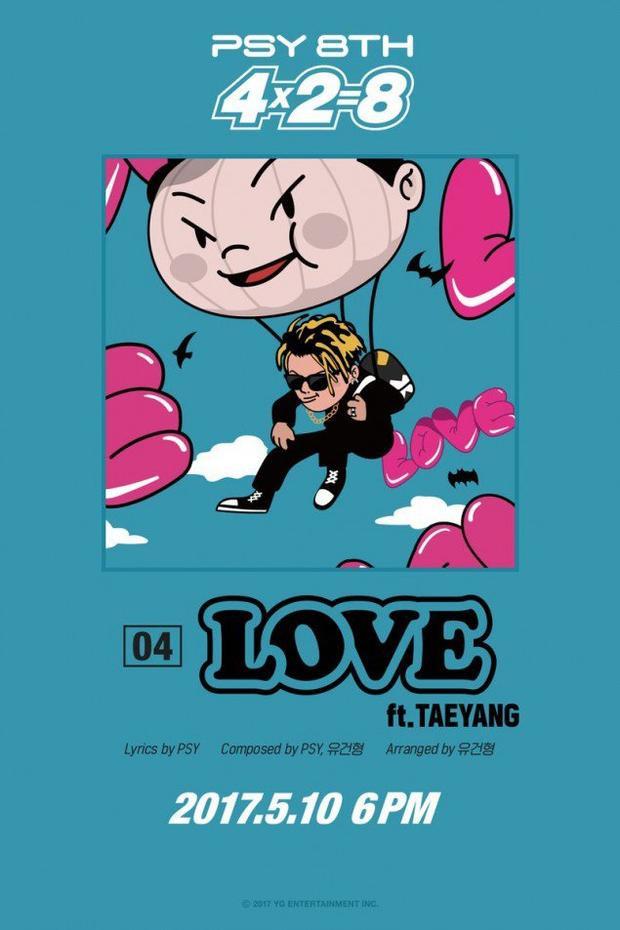 Hình ảnh Taeyang trong album mới của PSY. Cả 2 sẽ song ca bài hát tựa đề Love.