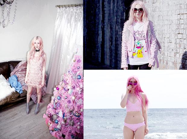 Kayla xuất thân từ trường học viện thời trang London, chuyên ngành công nghệ thiết kế thời trang chính vì vậy cô nàng rất biết cách sáng tạo gu ăn mặc đúng chất sở thích cuồng si sắc hồng của mình.