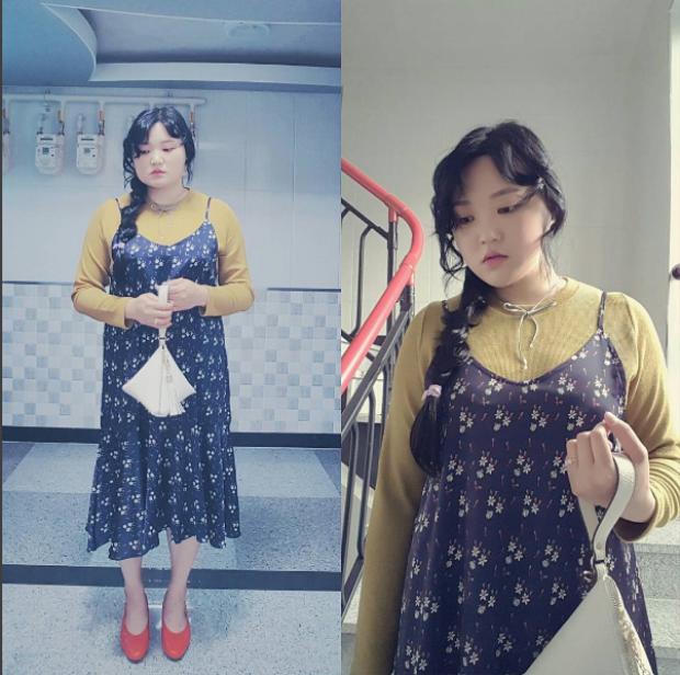Trang phục của cô nàng khiến người ta liên tưởng đến phong cách Mori girl Nhật Bản.