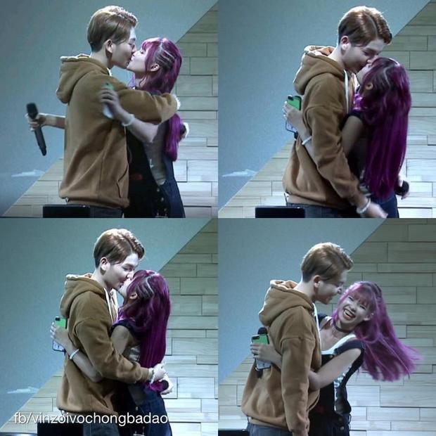 Nụ hôn ngọt ngào của cặp đôi trong chương trình Gặp là chiến khiến fan bấn loạn vừa qua.