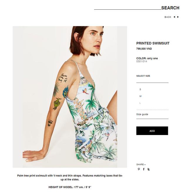 Printed Swimsuit có điểm nhấn khá đặc biệt mà.
