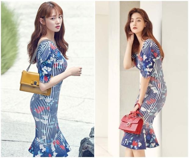 Lee Sung Kyung khoe đường cong gợi cảm yêu kiều còn Oh Yeon Soo có phần bí ẩn và chững chạc hơn.