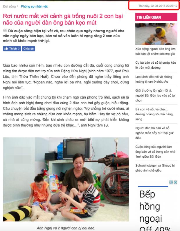 Người cha hát rong nuôi hai con teo não bị tố lợi dụng hoàn cảnh kiếm tiền từ thiện
