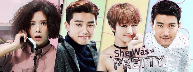 """Bốn gương mặt giúp She Was Pretty làm mưa làm gió"""" màn ảnh Hàn Quốc thời gian trước."""