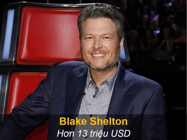 Blake Shelton nhận tới hơn 13 triệu USD khi ngồi ghế nóng, tuy nhiên mức giá này sẽ còn cao hơn nếu chương trình vẫn tiếp tục muốn mời anh cùng Gwen xuất hiện ở vị trí này.