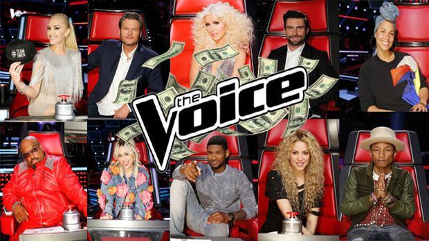 The Voice US đã phải trả bao nhiêu để những gương mặt này ngồi ghế nóng?