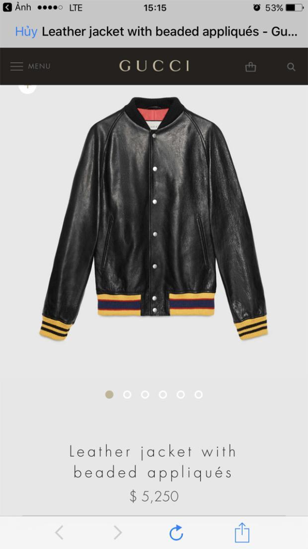 Chiếc áo khoác này giá cũng chẳng kém cạnh mẫu túi xách khi lên tới 5.250 USD khoảng hơn 120 triệu đồng.
