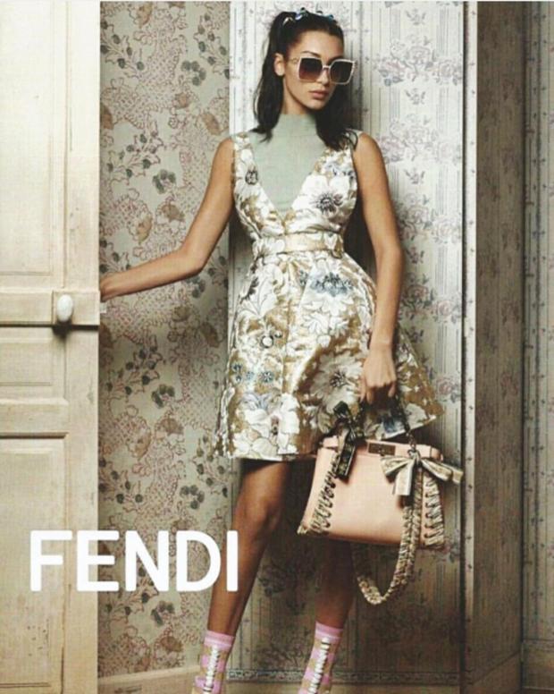 Bella trở thành nàng thơ cho Fendi trong bộ sưu tập Spring Summer 2017.