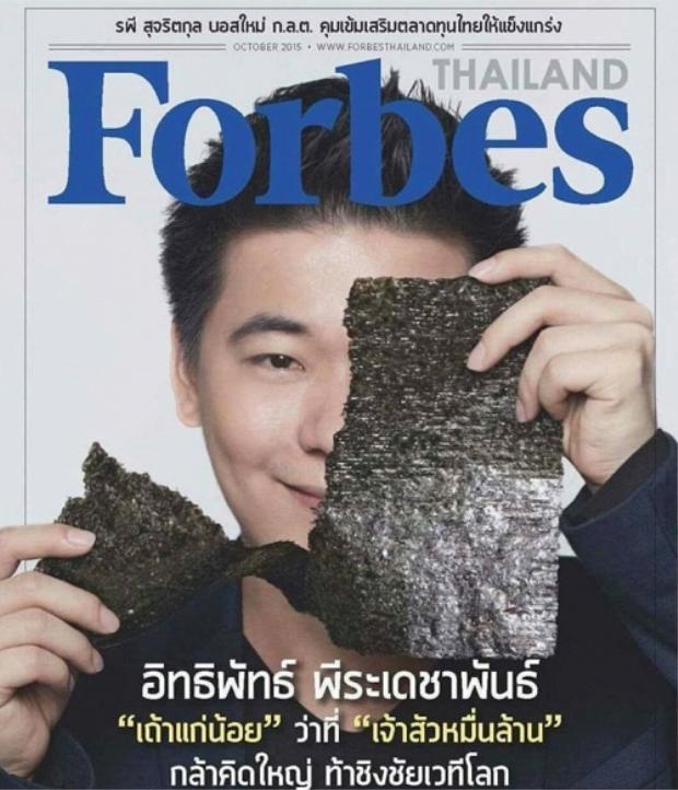 Tob trên trang bìa của tạp chí Forbes.