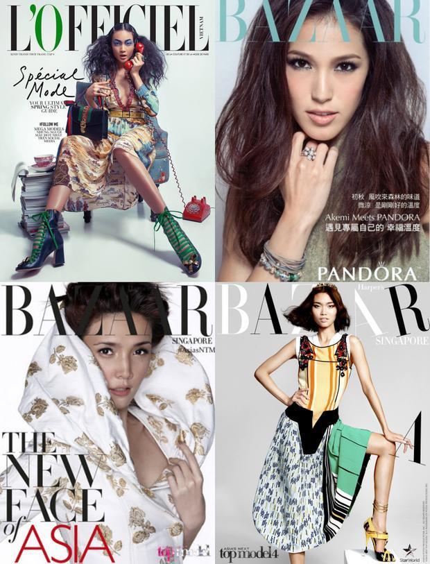 """Những """"kẻ thua cuộc"""" như Thùy Trang,Barbara Katsuki,Stephanie Retuya,Kim Sang In đều có bước tiến dài trong sự nghiệp."""