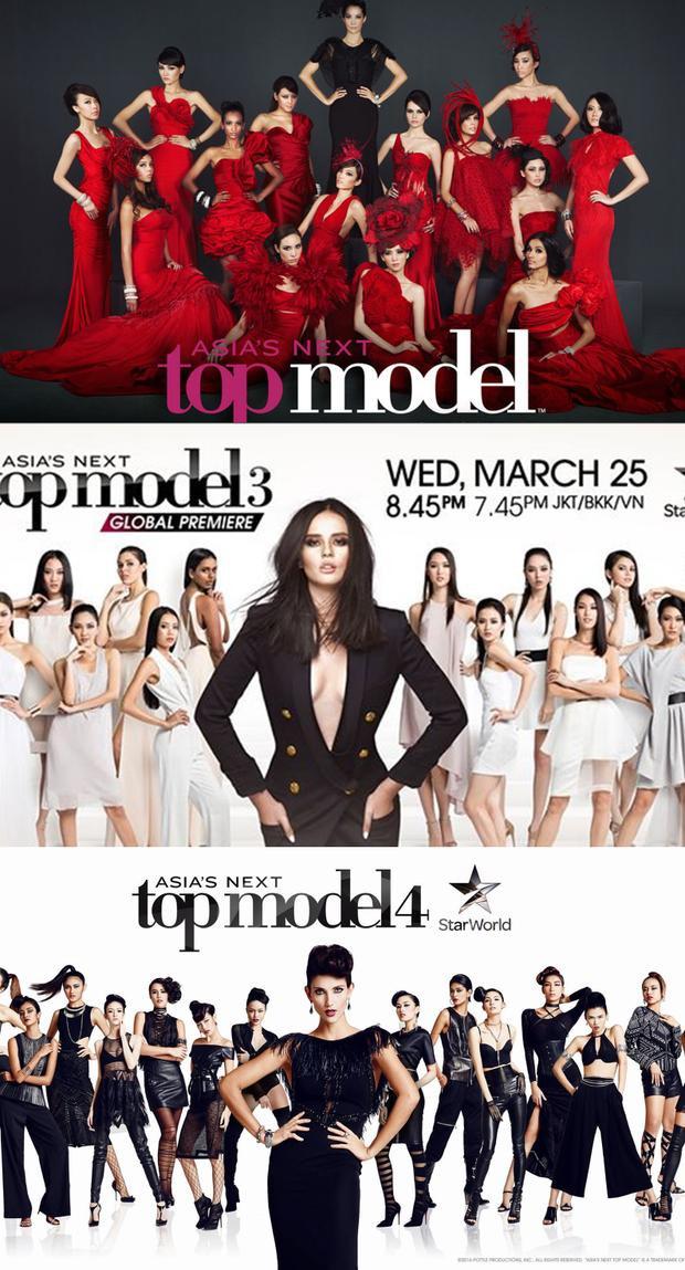 """Nadya Hutagalung, Georgina Wilson và Cindy Bishop thay nhau trở thành """"chủ nhà"""" quyền lực trong 5 mùa của Asia's Next Top Model."""
