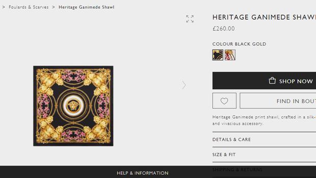 """Đầu tư £260 (gần 7 triệu đồng), """"chị Đại"""" Lan Khuê đã sáng tạo thành chiếc áo yếm độc đáo bằng mẫu khăn đến từ thương hiệu Vesace."""