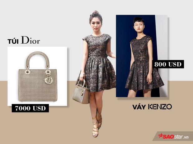 Chiếc túi Lady Dior Metallic Bag mang tới vẻ sang chảnh cho chủ nhân của nó cùng trang phục nằm trong Kenzo Happy Holidays 2016 Collection.