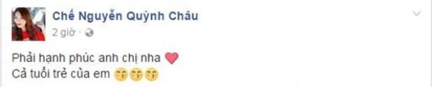 """Người mẫu Quỳnh Châu chúc """"tuổi trẻ"""" của mình được hạnh phúc."""