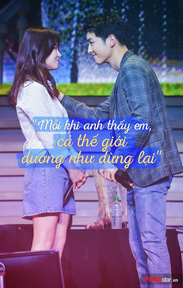 Cặp đôi Song  Song từng cùng nhau hát  Mỗi khi anh thấy em, cả thế giới dường như dừng lại