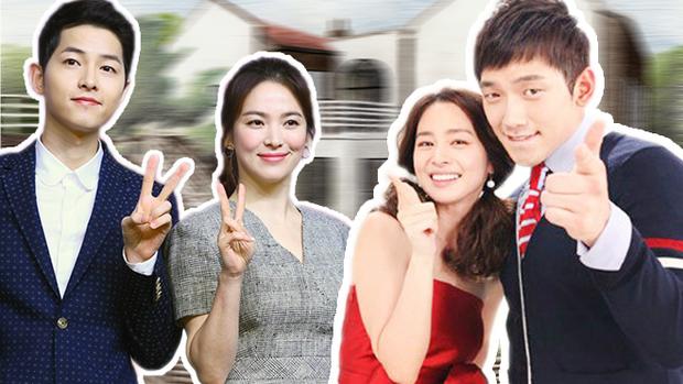 Fan háo hứng mong chờ ngày Song Joong Ki  Song Hye Kyo và Bi Rain  Kim Tae Hee kết thành sui gia