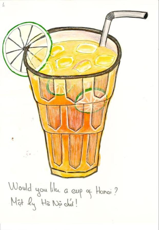 Không phải một ly trà chanh chém gió nữa, mà là một ly Hà Nội.