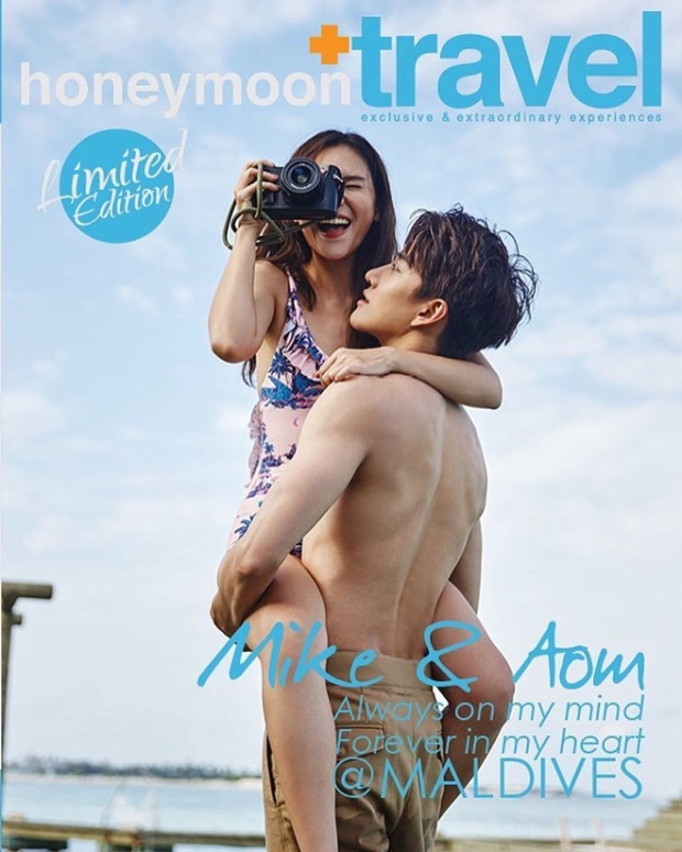 Mới đây cả hai đã cùng sang đảo thiên đường Maldives để thực hiện bộ ảnh đôi nóng bỏng tay cho tạp chí Honeymoon.