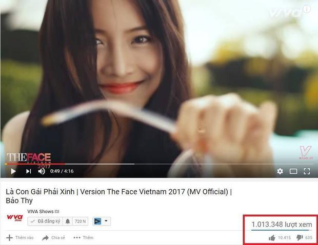 MV Là con gái phải xinh phiên bản The Face đã cán mốc 1 triệu view….