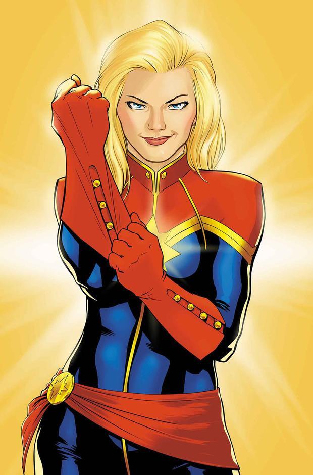 Tạo hình của nhân vật Carol Danvers / Captain Marvel trong truyện tranh.