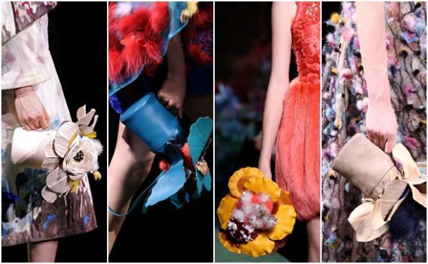 Những chiếc túi xách được lấy cảm hứng từ những chiếc bình nước tưới hoa hình tròn xinh xắn.