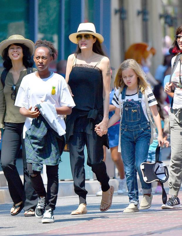 Angelina Jolie  Brad Pitt bí mật gặp nhau ở cửa hàng thú cưng