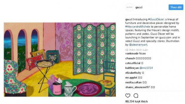 Với những hình ảnh đầu tiên nằm trong BST lần này được thương hiệu tiết lộ, bạncó thể hình dung ra một căn phòng đậm chất Gucci là như thế nào rồi đấy!