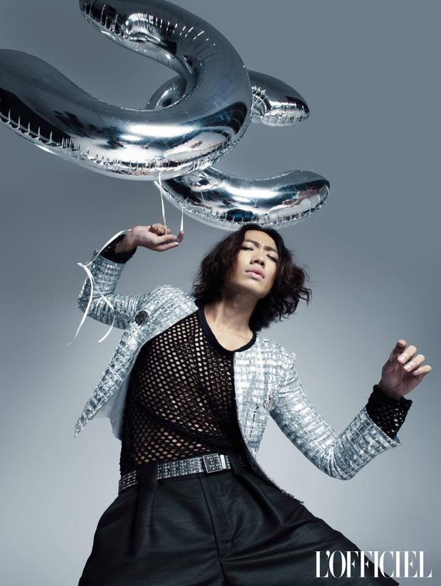 Alex Fox trong một shoot hình ấn tượng trên tạp chí L'Officiel