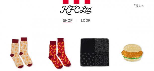 Cận cảnh trang www.kfclimited.com nơi bán toàn bộ sản phẩm trong BST lần này của KFC.