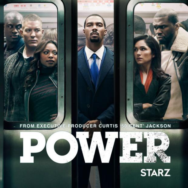 Poster của Power với sự xuất hiện của 50 Cent bên góc phải.