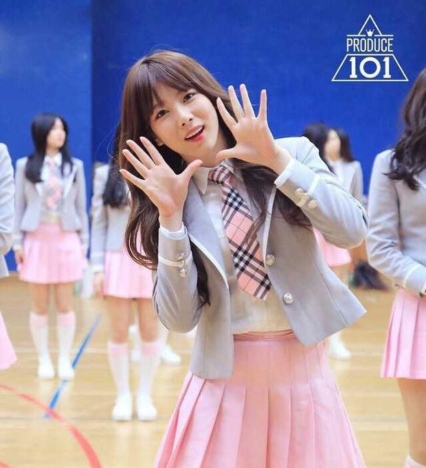 Hình ảnh tại Produce 101 mùa 1 của Lee Hae In.