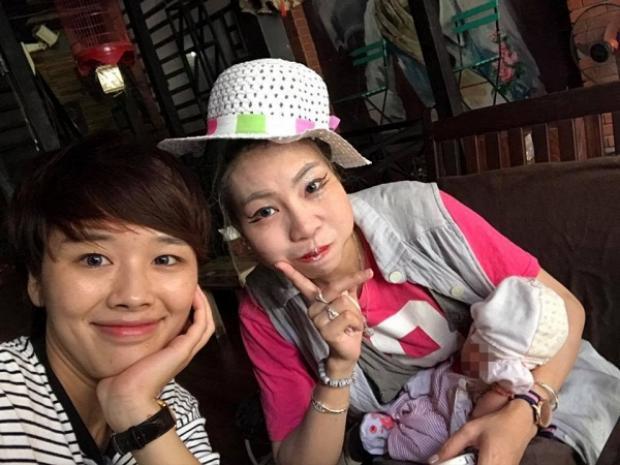 Chị Nguyễn Hương Linh và Bella trước khi vào Sài Gòn.