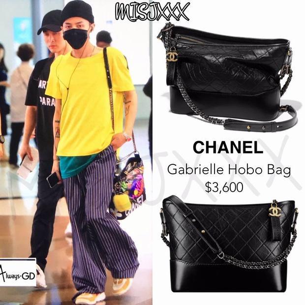 Chanel Gabrielle là một sản phẩm trong chiến dịch quảng bá mà nhà mốt này hợp tác với G-Dragon. Giá của chiếc túi xách không hề rẻ- 81 triệu đồng Bởi vậy mà anh chàng mang theo mọi lúc mọi nơi.