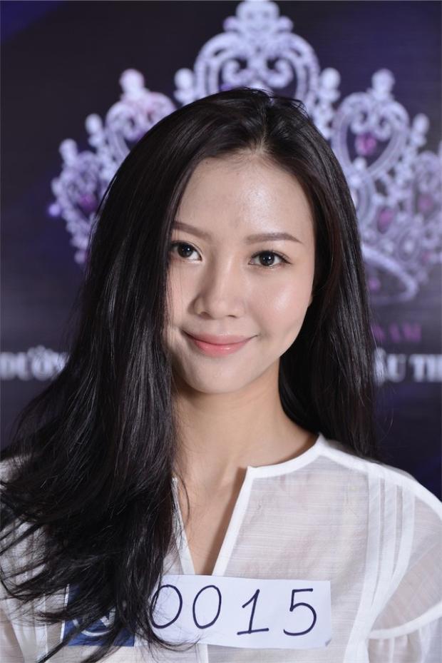 Ngọc Châm từng tham gia Hoa khôi Áo dài 2014.