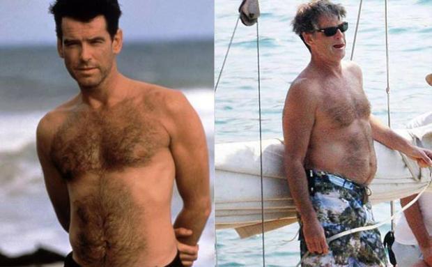 """""""Điệp viên 007"""" Pierce Brosnancũng bị biến tướng theo thời gian."""