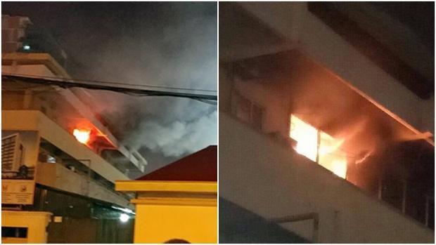 Cháy tại khoa khám bệnh, bệnh viện Bạch Mai.
