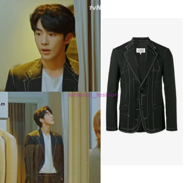Hoặc đôi khi chỉ diện áo blazer mix cùng quần tây, thiết kế của nhà mốt MAISON MARGIELA với giá 2.160 USD (khoảng 50 triệu đồng).